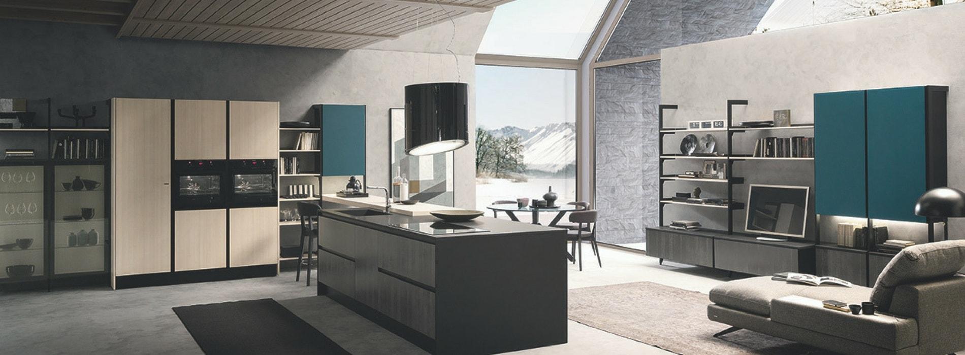 Elegant cucina con isola estetica e convivialit with for Cieffe arredamenti